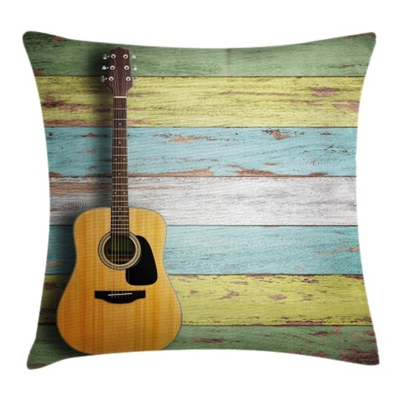 fdc4fcf9904 Ambesonne Accents | Pillow Case Acoustic Guitar Print Cover No ...